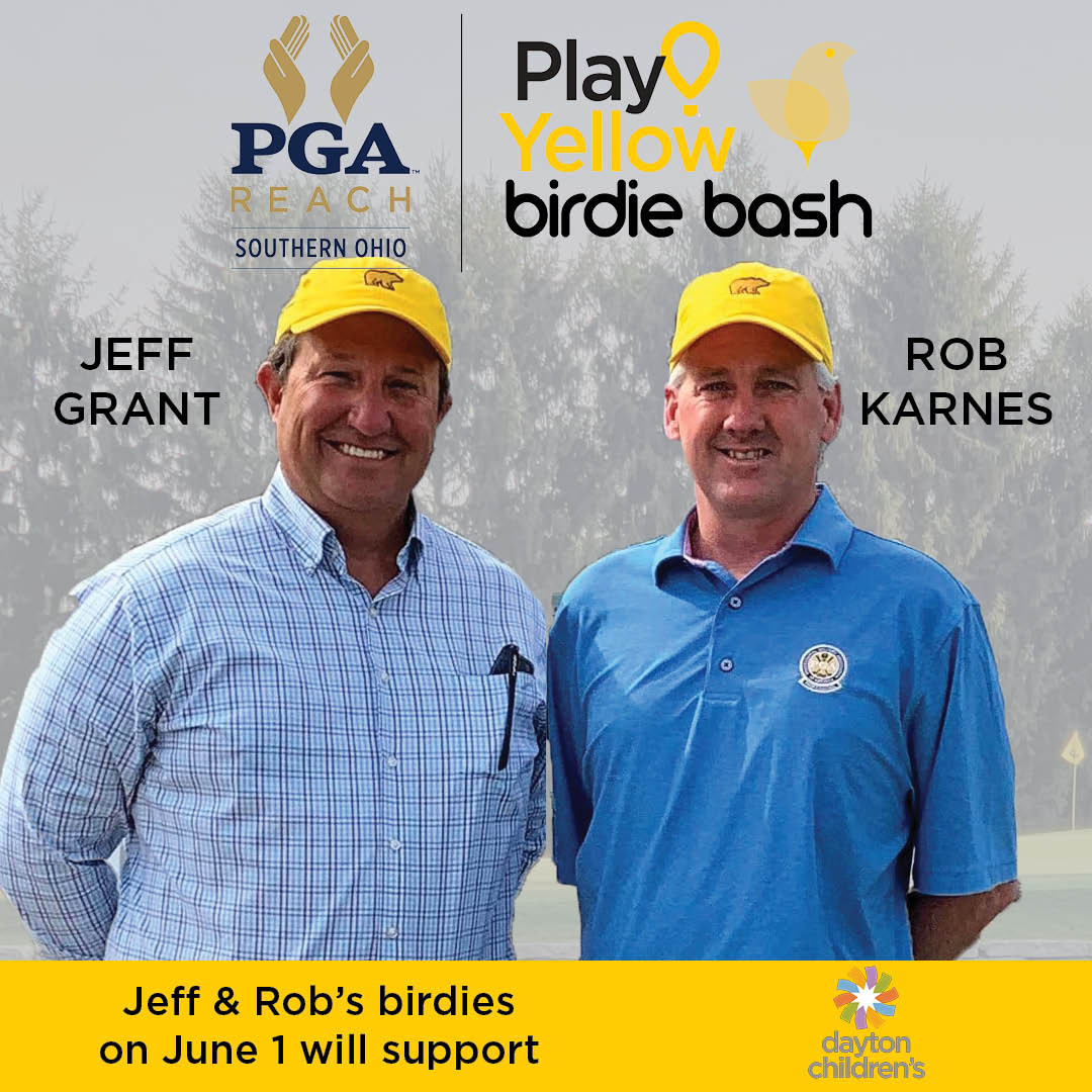 Go Jeff & @mp358_pga as they make birdies in the #PlayYellowBirdieBash on June 1!