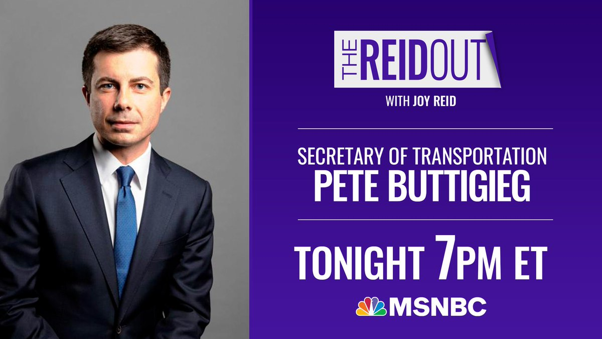 TONIGHT: @SecretaryPete joins #TheReidOut   Tune in at 7pmET! https://t.co/vnGyzlCX2h
