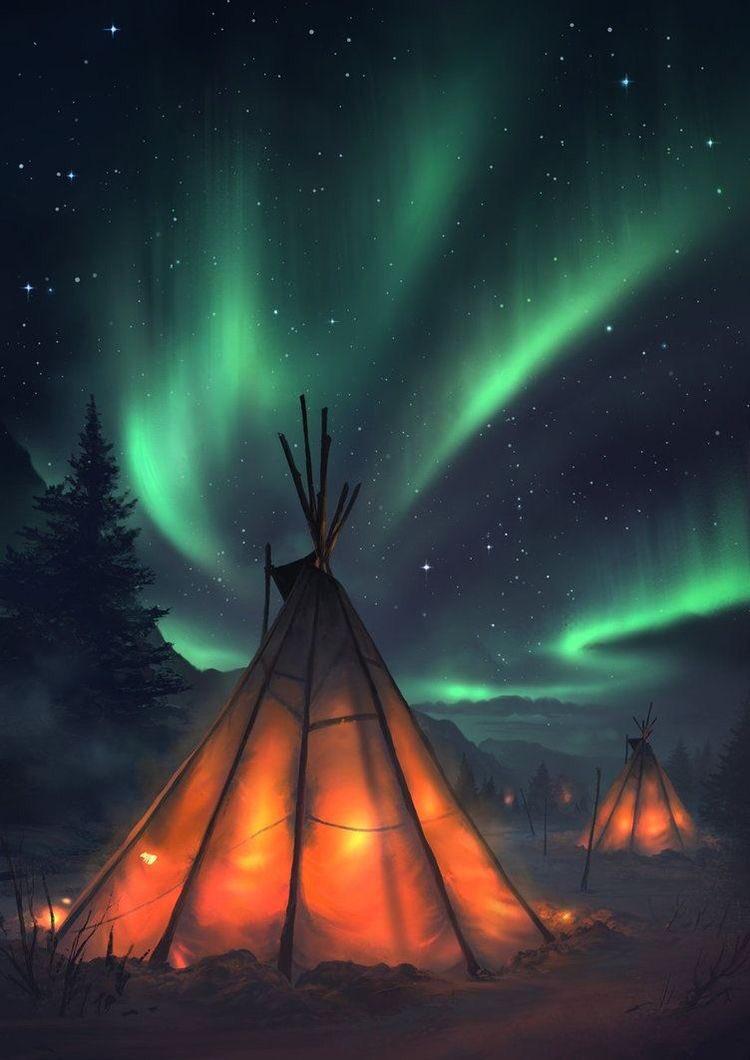 Baby girls born beneath glowing northern lights were gifted the name maȟpíya tȟaŋíŋ—Aurora. ✨ https://t.co/5v6ZsgYsg5