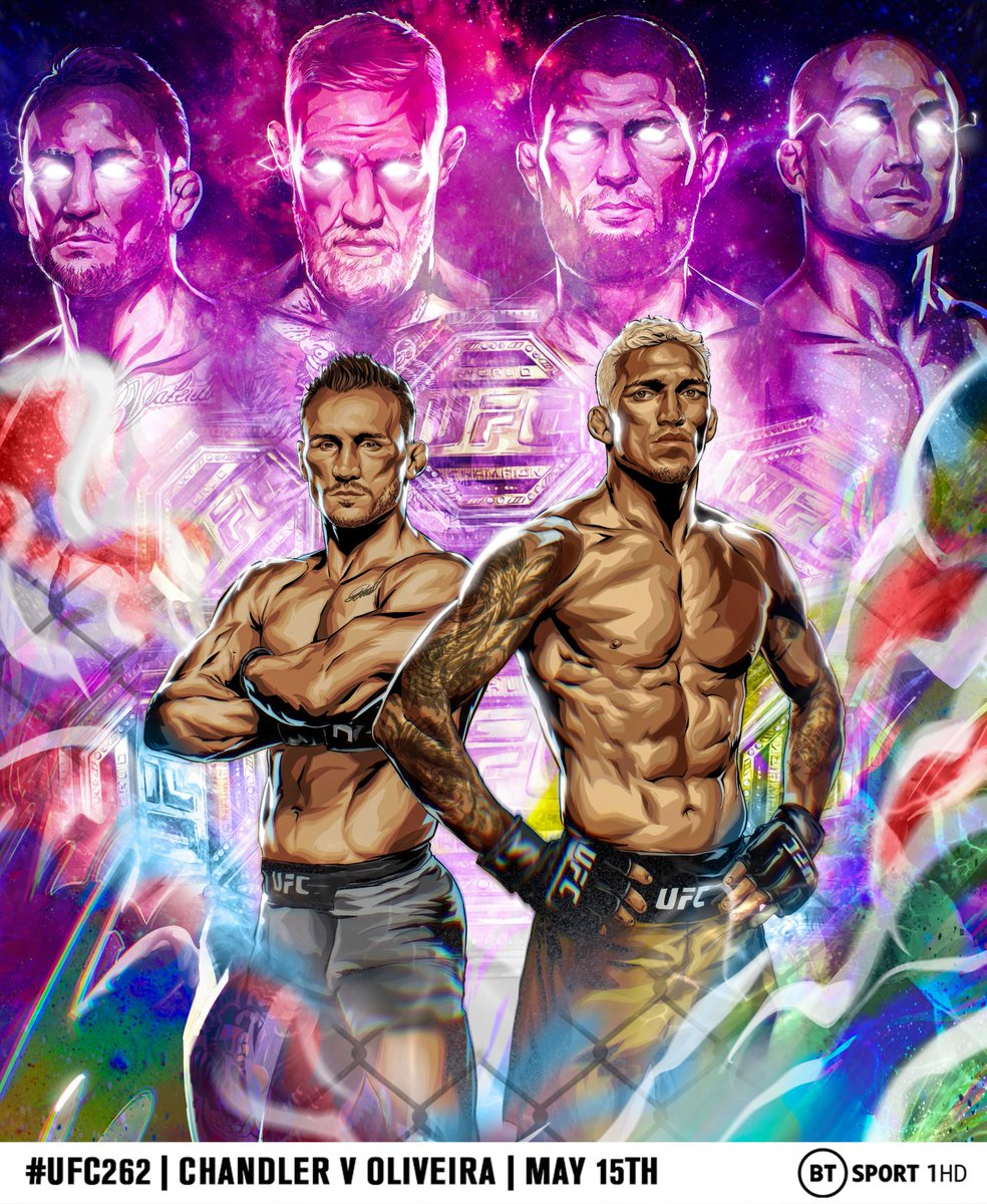 There have been 🔟 UFC Lightweight Champions over the last 20 years 🏆  From Frankie Edgar and B.J. Penn to Conor McGregor and Khabib Nurmagomedov 🔥  At #UFC262, @MikeChandlerMMA or @CharlesDoBronxs will go down in the history books forever 👌  🎨 x @the_art_of_mma https://t.co/WGgat622AL
