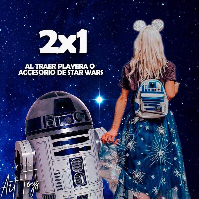 ¡¡TODO MAYO!! ¿Eres un verdadero fan? Asiste con cualquiera playera o accesorio de Star Wars y llévate un 2x1 en la entra al Museo Art Toys.  #museoarttoys #cdmx #StarWarsDay  #starwars #Dondeir #dondeir
