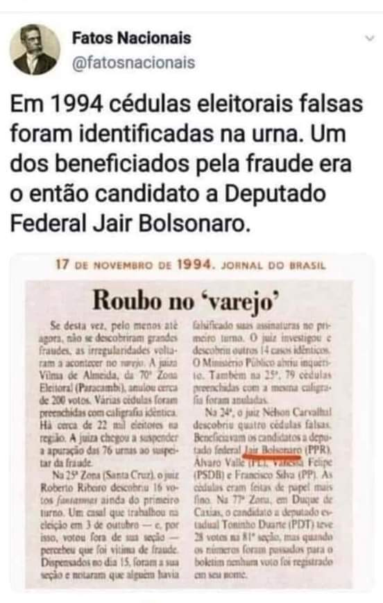 Taí o motivo da defesa do voto impresso...