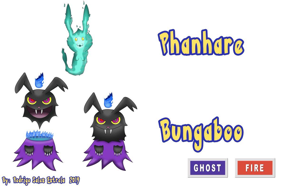 Phanhare & Bungaboo, pokémon criados por mim e com evolução. [2019]   #digitalartwork #fanart #Pokemon #fakemon #pokemonfanart #drawing #art #digitalart