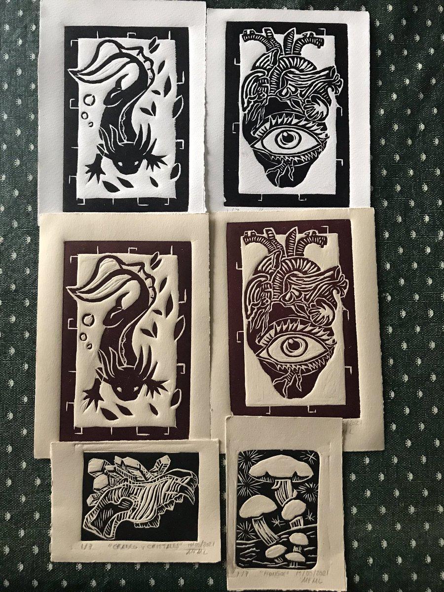 Nuevos grabados! Pregunten por ellos, están a la venta!   #grabado #print #printmaking #art #drawing #dibujo #ilustration #ilustración #artegrafico
