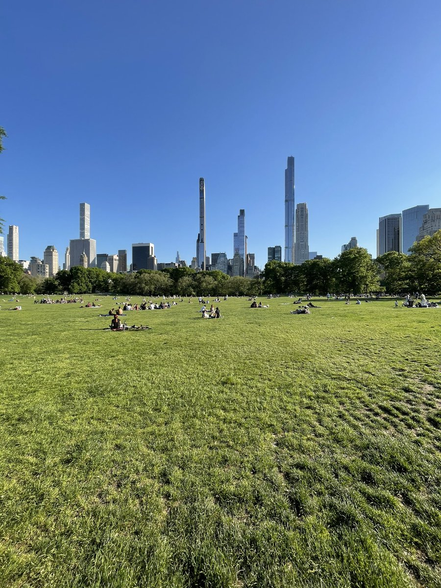 running past Sheep's Meadow, grinning like a maniac at how beautiful it all is