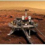 Image for the Tweet beginning: 中國首次火星探測任務 #天問一號 探測器15日在 #火星 烏托邦平原南部預選着陸區着陸,在火星上首次留下中國印跡,邁出了中國星際探測征程的重要一步。後續,祝融號火星車將依次開展對着陸點全局成像、自檢駛離着陸平台並開展巡視探測。#科技中國