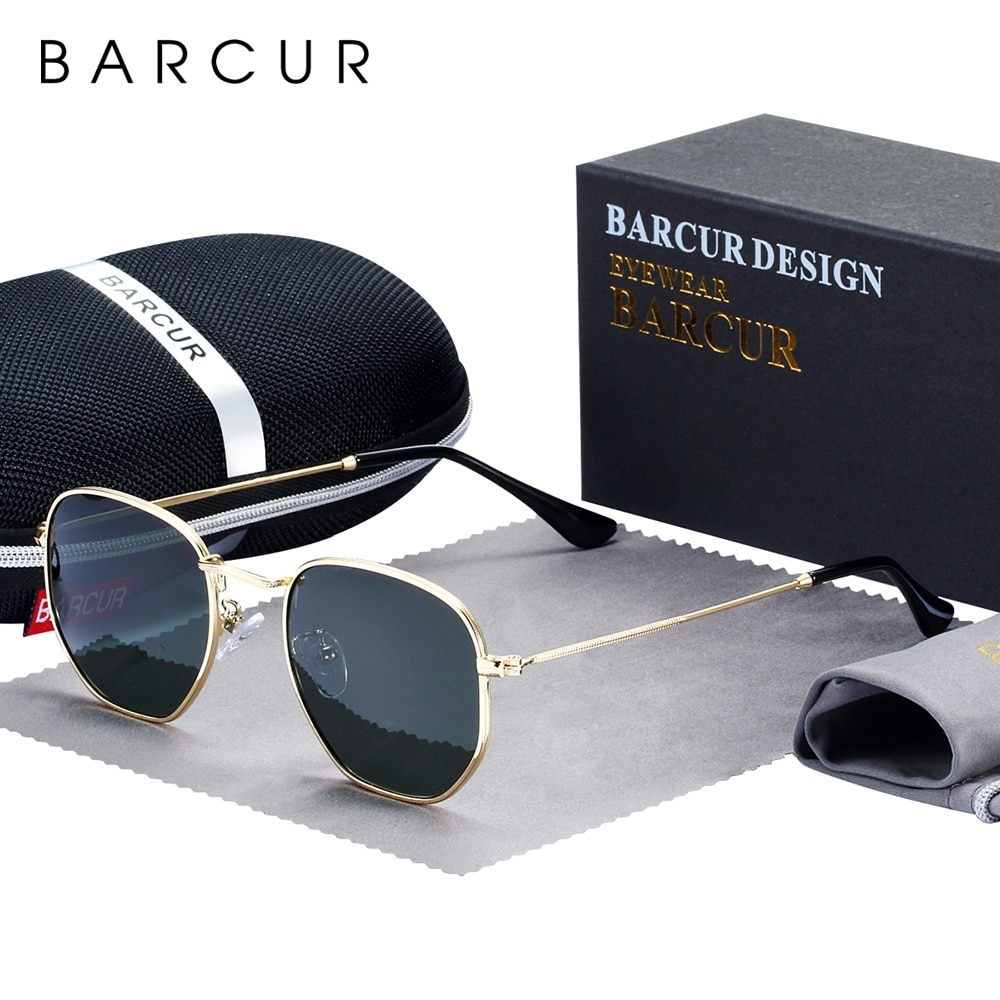 #amazing #gift4you BARCUR Classic Retro Reflective Sunglasses Man