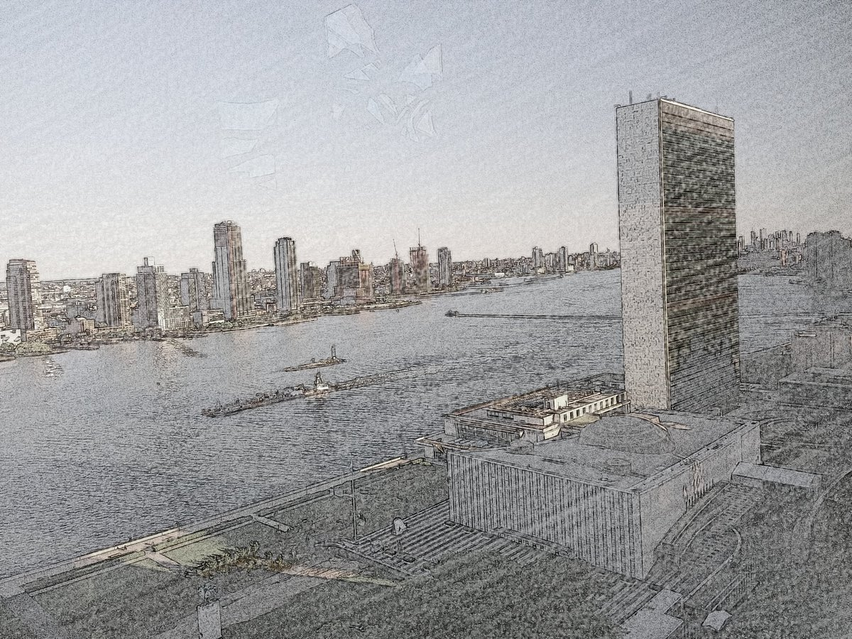 Good to return to #NewYork and enjoy this view of @UN and East River from our window