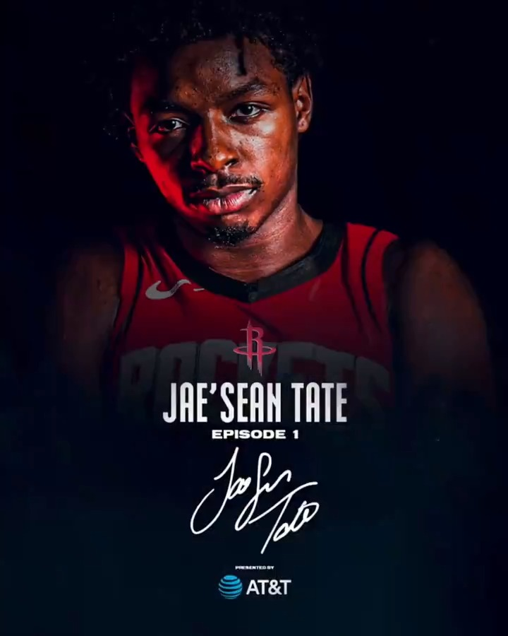 """🗣 """"I'm Jae'Sean Tate and I'm a forward for the Houston #Rockets.""""  🎬 The @o_tate_ Story Episode 1 presented by @ATT debuts on our YouTube page Saturday at 9AM! https://t.co/rcIIKoBzi1"""