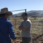 Mapping new and existing infrastructure in the vast and remote APY Lands took AW's Data and Information Coordinator Adam Wood on Country with APY's Pastoral Manager Michael Clinch.  #sustainable #pastoral #mapping #APYLands #infrastructure @APY_Lands