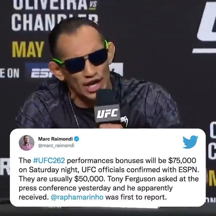 He... he did it 🤯 @TonyFergusonXT #UFC262  (via @marc_raimondi) https://t.co/6Te4AuoHyU