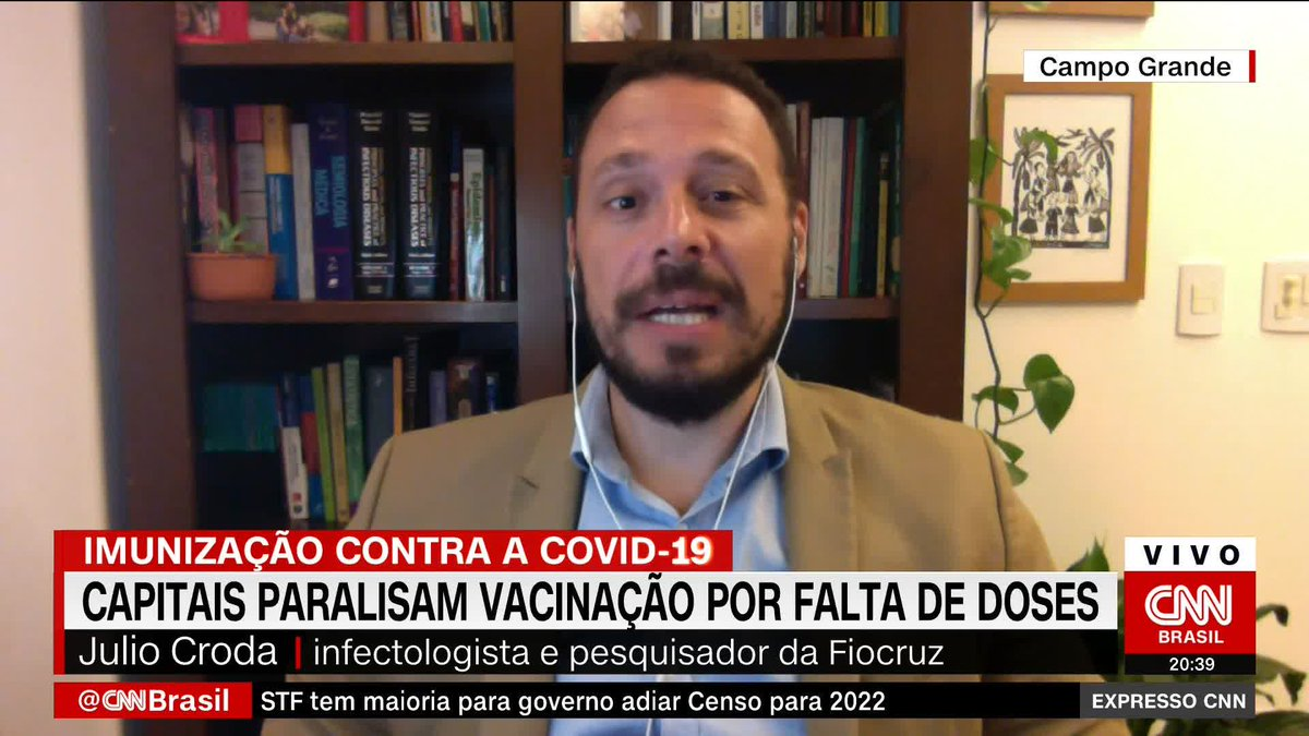 'Chance de ocorrer novas mutações da Covid é enorme', diz o pesquisador da Fiocruz Julio Croda https://t.co/qSpxhzVT6S