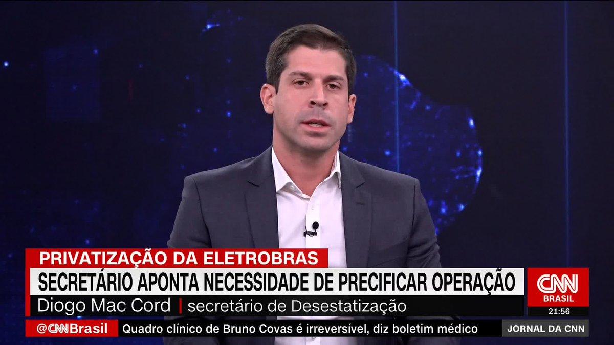 Ambiente político para privatizar a Eletrobras é favorável, diz Diogo Mac Cord, secretário da Desestatização do Ministério da Economia https://t.co/uUCUzUqJ9Q