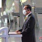 Image for the Tweet beginning: 位於曼谷近郊暖武里府的 #泰國 最大方艙醫院14日揭幕啟用。泰國總理巴育、副總理兼衛生部長阿努廷等出席揭幕儀式並視察醫院設施。該方艙醫院建立在當地的國際會展中心(IMPACT)內,主要用於收治輕、中度 #新冠肺炎 患者。醫院分為ABC三個區域,共設有5200張病床。