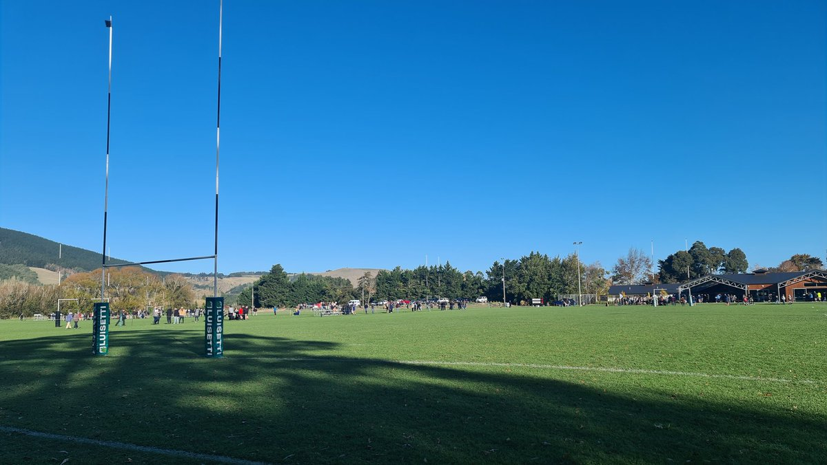 Super day for a walk although the wind is fresh. Club day at Waihora #canterbury #clubrugby