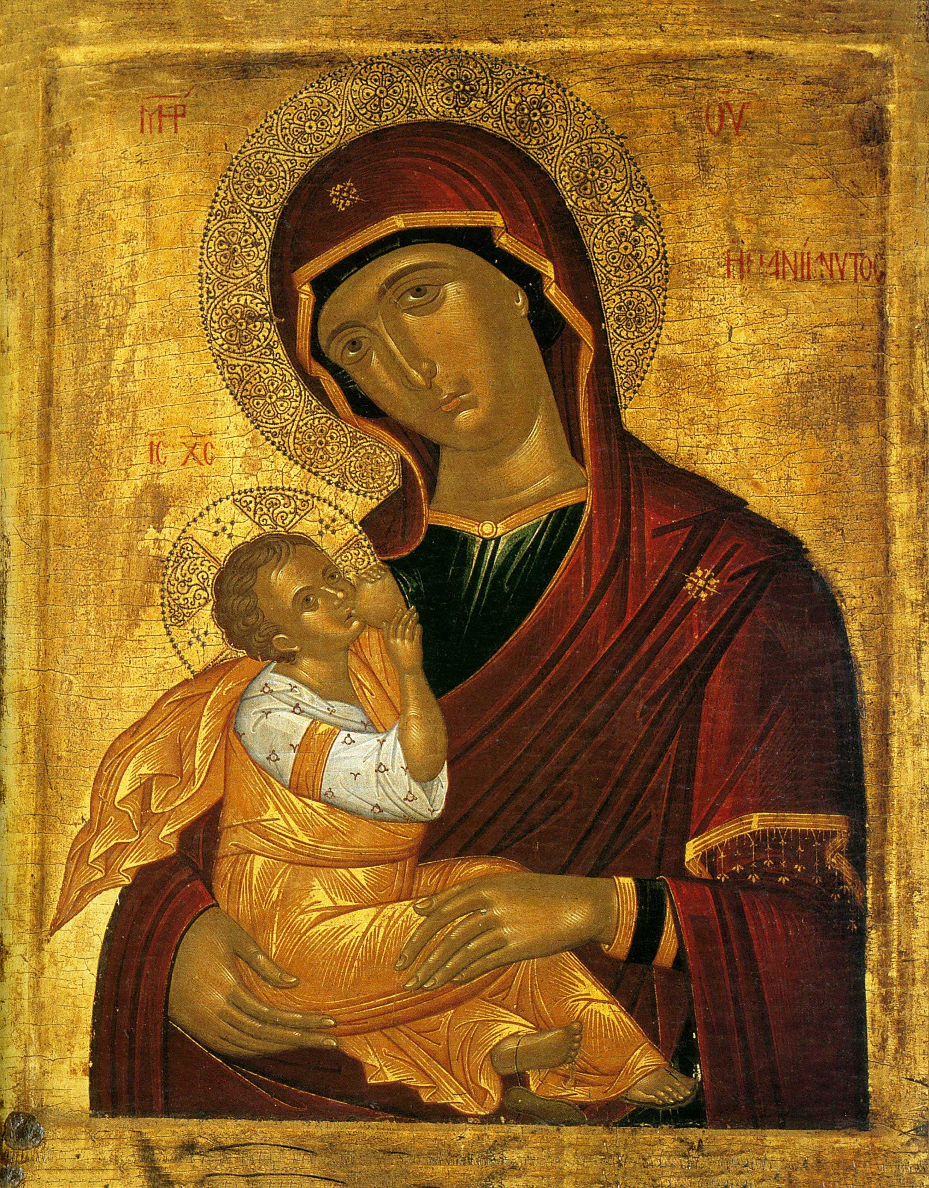 Nossa Senhora amamentando o Menino Jesus