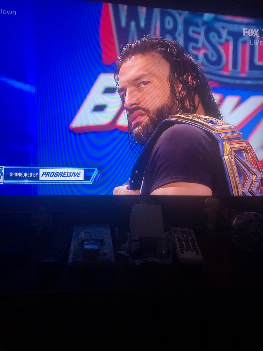 O-K today's #SmackDown was....not the way that I had in mind, but mark my words...This Sunday night, thee #TribalChief will beat that #SupermanSwiss at #WrestleManiaBacklash. #AndStill the Reignsing Defending Undisputed Universal Heavyweight Champion @WWERomanReigns https://t.co/wGh3VZLcdl