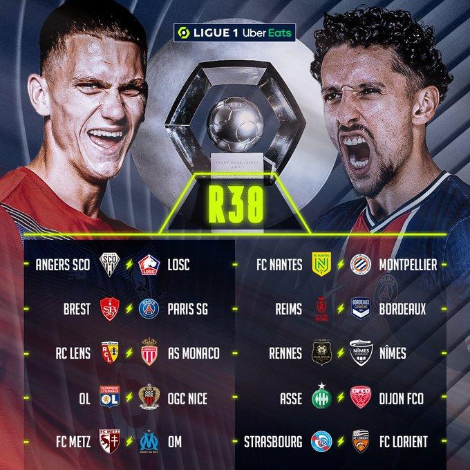 Pertandingan pekan 38 Liga Prancis 2020-2021