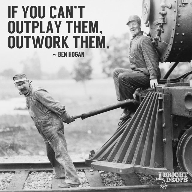 If you can't outplay them, outwork them. #quote #mondaymotivation https://t.co/TfsrXfygK1