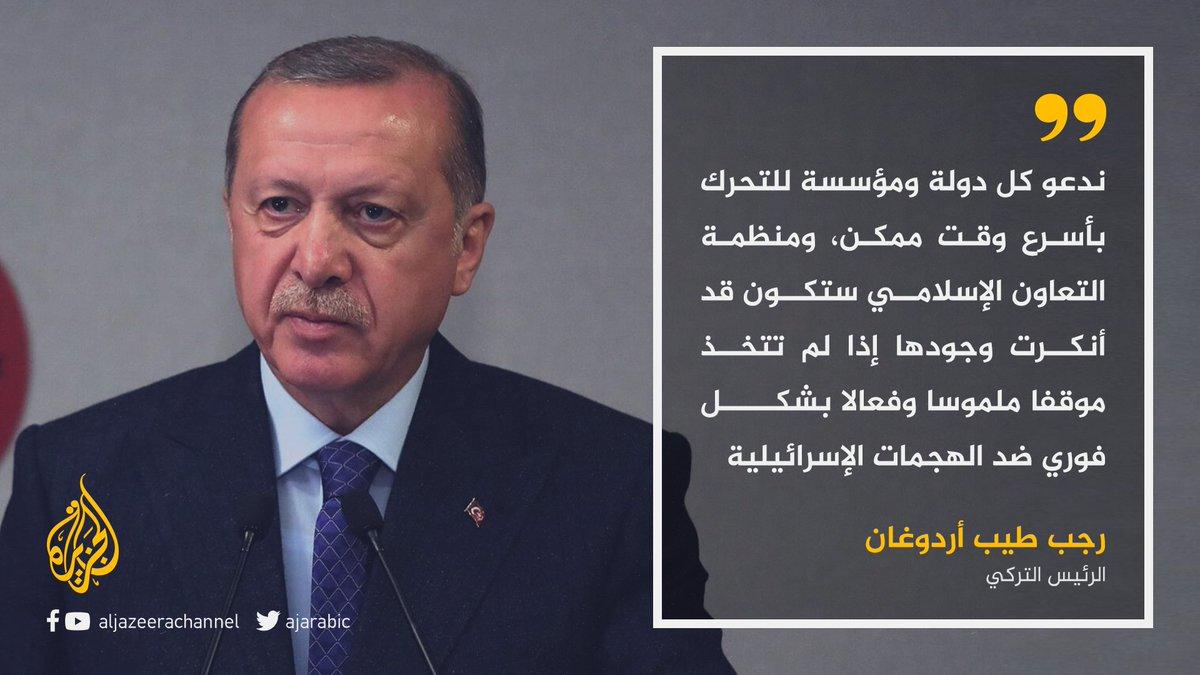 دعا العالم للتحرك لوقف العدوان.. أردوغان إذا لم تتخذ منظمة التعاون الإسلامي موقفا فستكون قد أنكرت وجودها