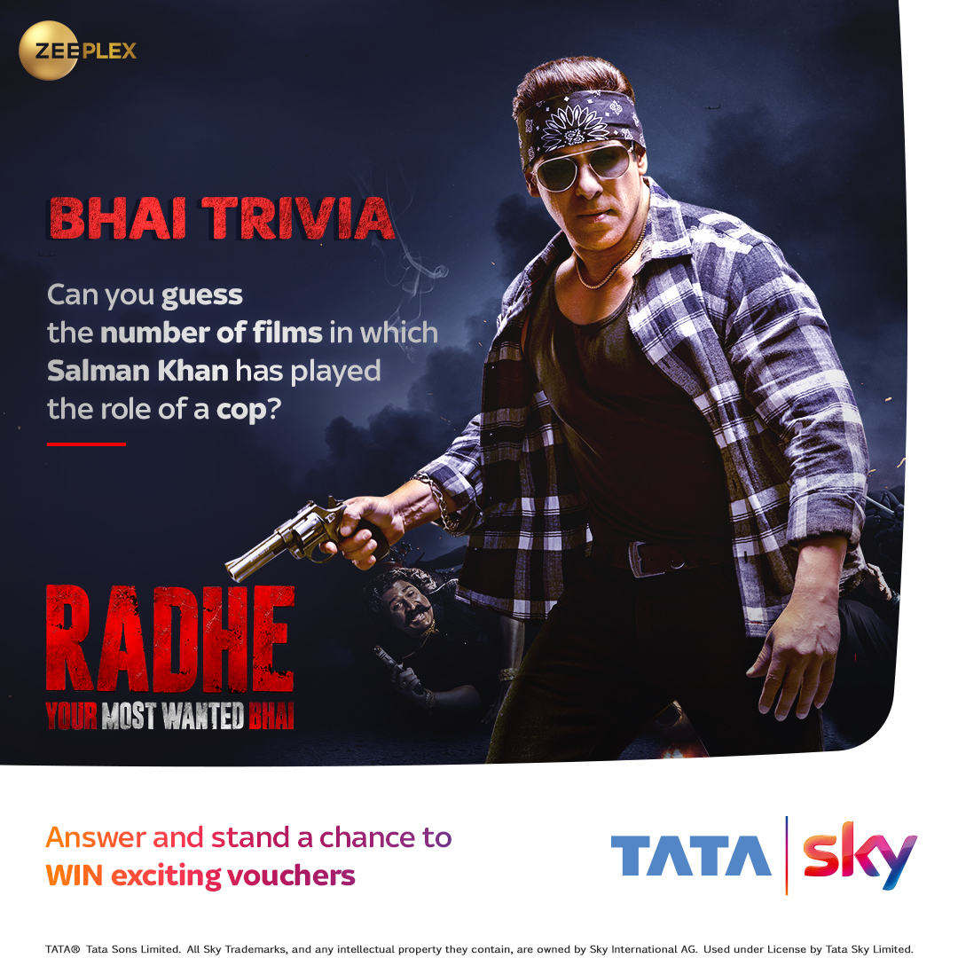 Contest Alert: Let's see how well you know your Most Wanted Bhai. Comment your answer below and get a chance to win exciting vouchers.  @beingsalmankhan @bindasbhidu @DishPatani @RandeepHooda @PDdancing @SKFilmsOfficial @ZeeStudios_ @SohailKhan @atulreellife @ReelLifeProdn https://t.co/PBpOgVYCdf