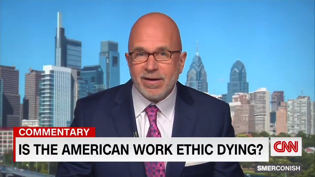 """Employers say they can't lure back workers, and some states are ending enhanced unemployment benefits. CNN's @smerconish: """"Is the American work ethicdying?Or are the wages of work beingreimagined?"""""""