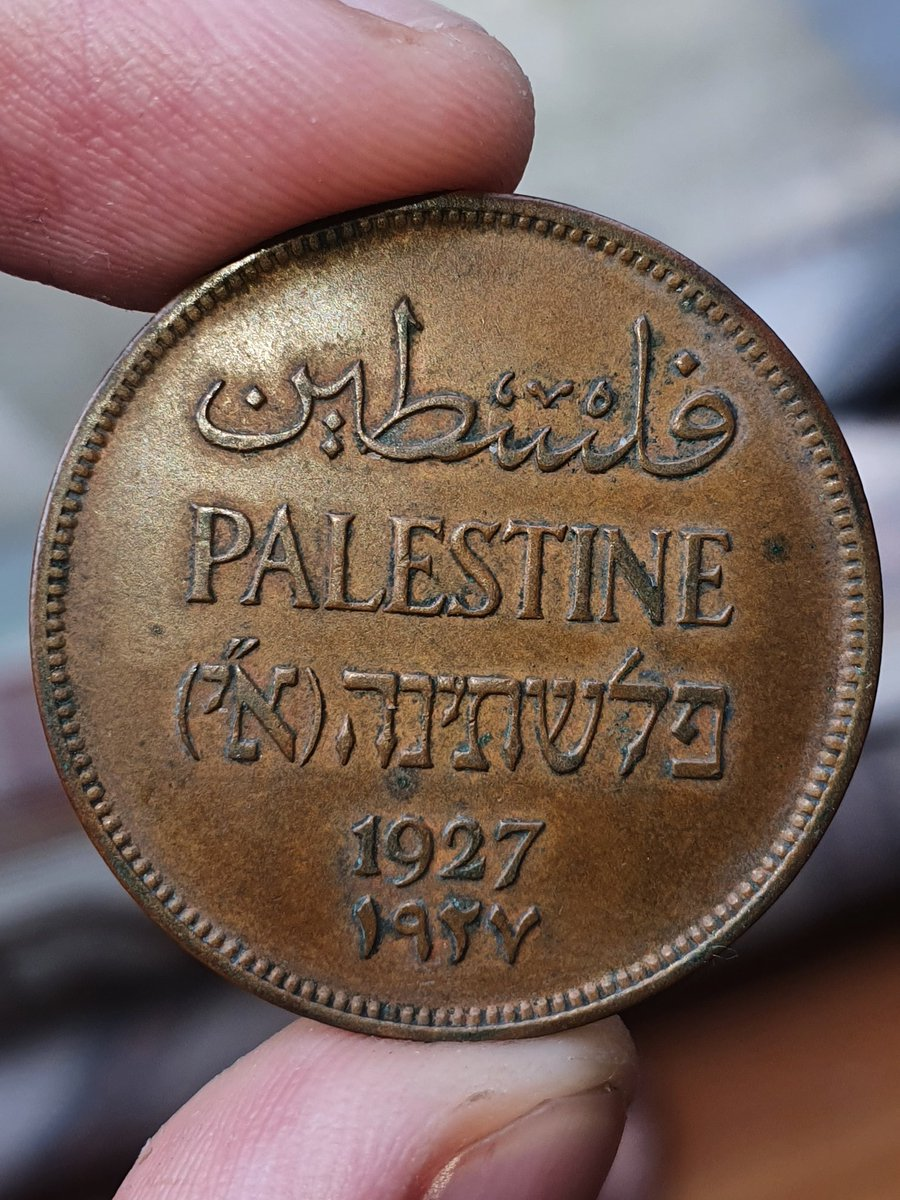 """my Palestinian coin from 1927, long before """"Israel"""" https://t.co/KwxCHmOXBe"""