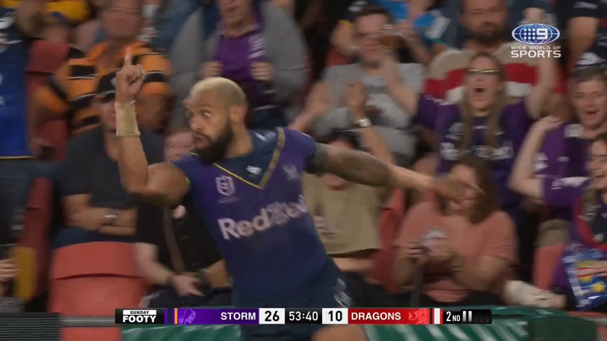 😲ARE YOU KIDDING!!😲  Is the the try of the year!?🔥  STREAM: https://t.co/Z3ORILTTTY   #9WWOS #NRL #MagicRound https://t.co/LBpLr7pCJ5