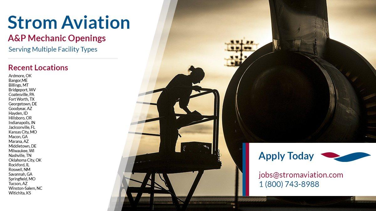 Strom Aviation Jobs Stromaviation Twitter
