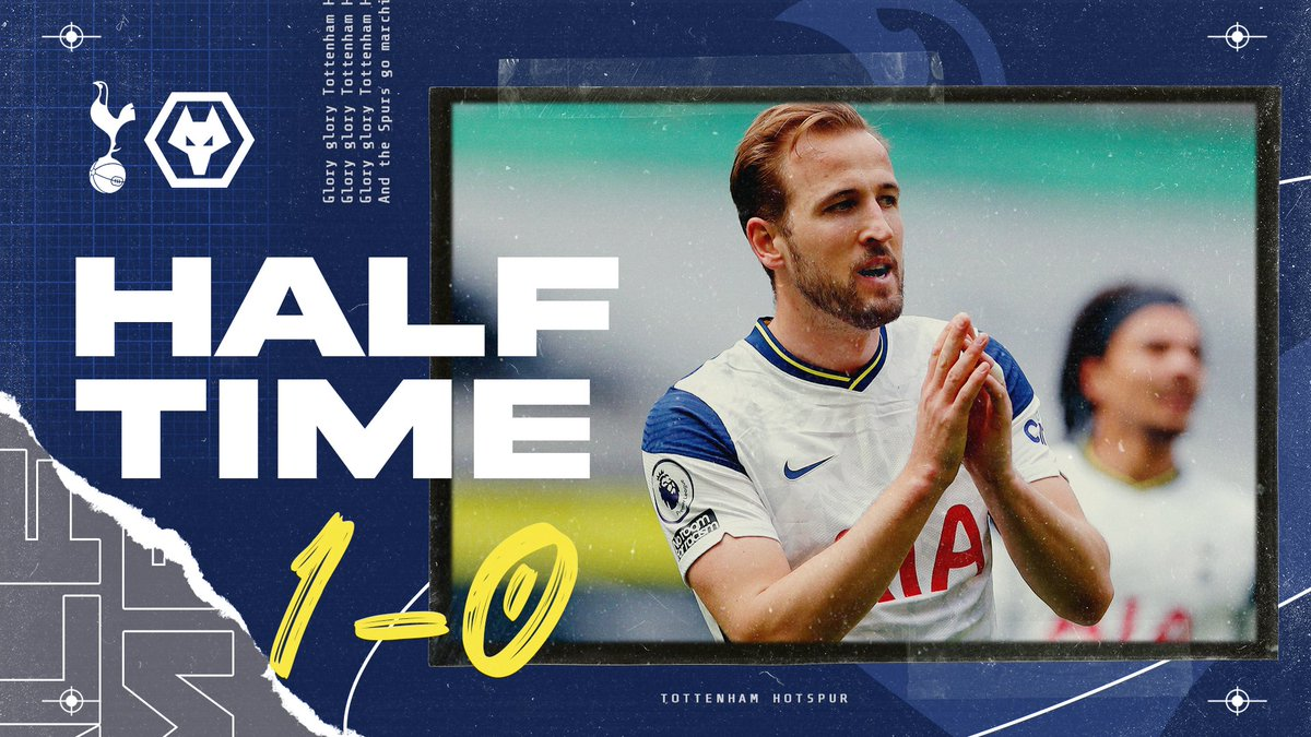 𝗛𝗔𝗟𝗙-𝗧𝗜𝗠𝗘 ⏱ Harry's goal towards the end of the half has given us the lead!  ⚪️ #THFC 1-0 #WWFC 🟣