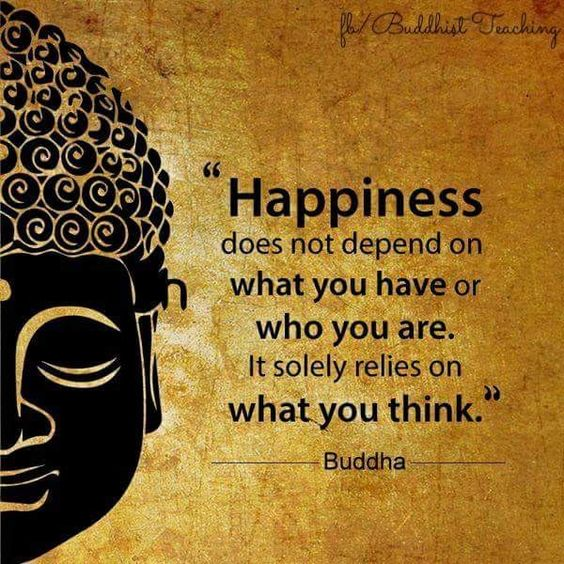 Happiness does not depend on what you have or who you are. It solely relies on what you think. #LightUpTheLove #thinkbigsundaywithmarsha