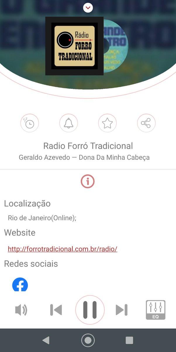 """A ouvir """"Radio Forró Tradicional"""". A utilizar o myTuner Radio (https://t.co/YTXhxHpkU2) https://t.co/SMFsWLBI7z"""