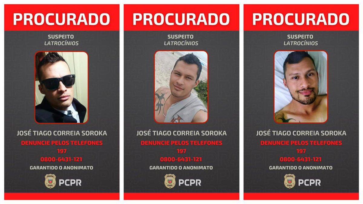 Polícia Cívil do Paraná acaba de divulgar fotos do homem suspeito de matar e roubar homossexuais em Curitiba através de encontros marcados por aplicativos. https://t.co/6RfF42YEWp