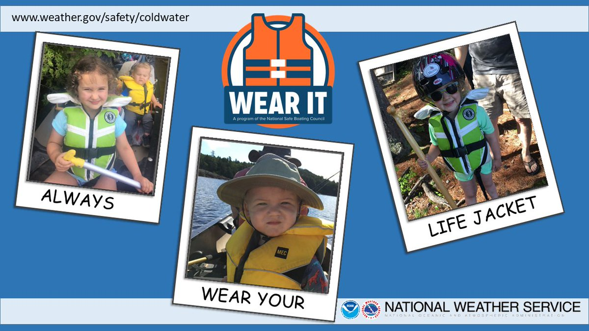 It'll be another warm day today, but water temperatures remain in the 40s and 50s across the North Country. Please heed our friends at NWS Gray and wear your life jacket! Cold water kills!