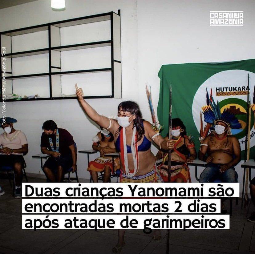 É massacre: pandemia, garimpo, desmatamento, tudo culminando no extermínio de nossos povos! https://t.co/X2QdRziPoU