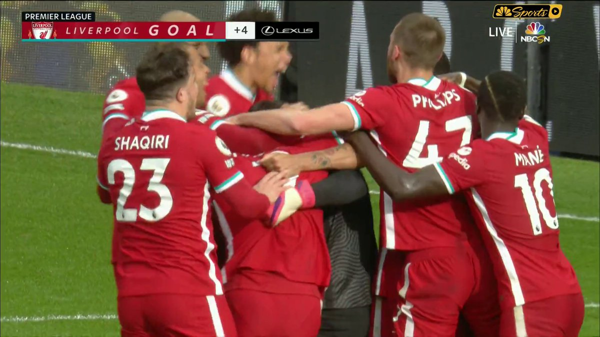 Image for the Tweet beginning: Liverpool's Goalkeeper scores winner in