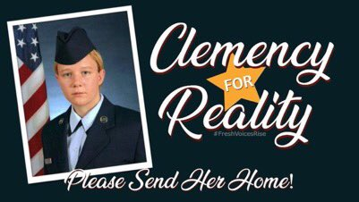 Let's talk about Reality  Winner.  She should be granted  Clemency.   That's the end of my talk.  Please RT if you agree🔥  #Clemency4Reality  #FreshVoicesRise https://t.co/Jw3yJ2M3lo