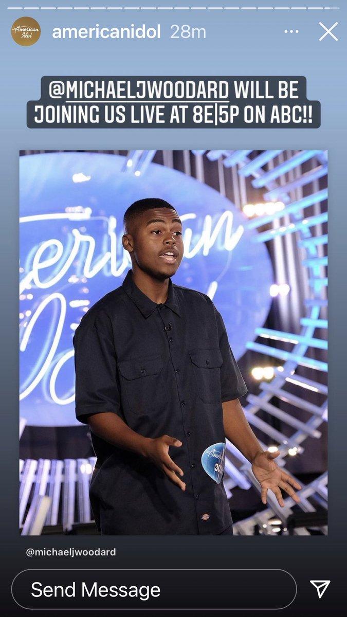 Yes! American Idol tonight!  @MichaelJWoodard @AmericanIdol https://t.co/25DZLSws9z