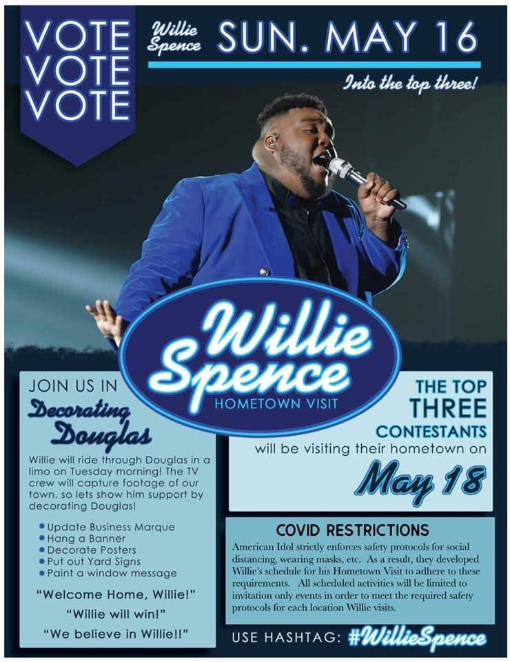 Everyone tune in and vote Willie Spence. American Idol! https://t.co/3dyRthS7pY