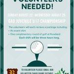 Image for the Tweet beginning: A great volunteer opportunity. @RoselandGolf