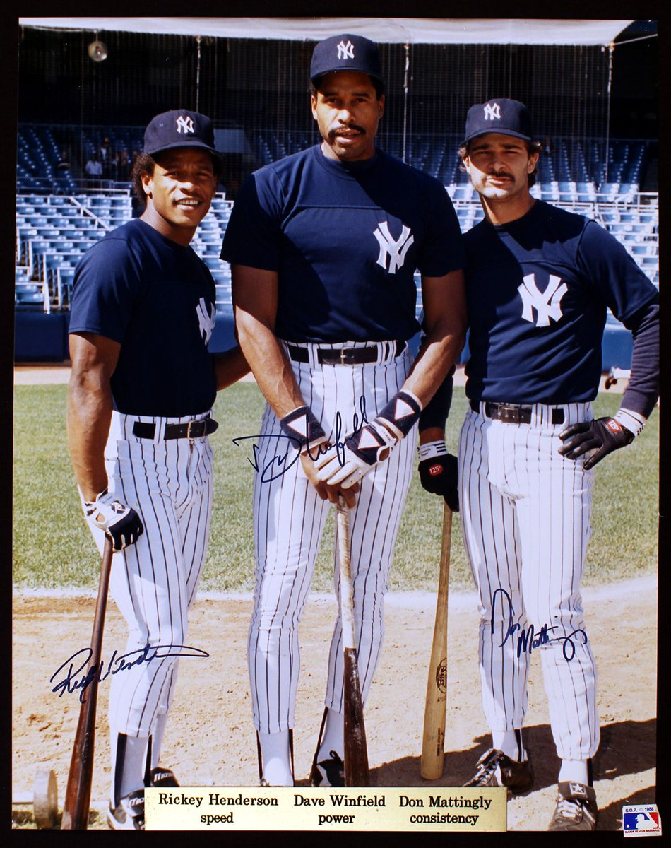 RT @CirclinTheBases: New York Yankees - Rickey Henderson, Dave Winfield, and Don Mattingly https://t.co/VzREEvTrKS
