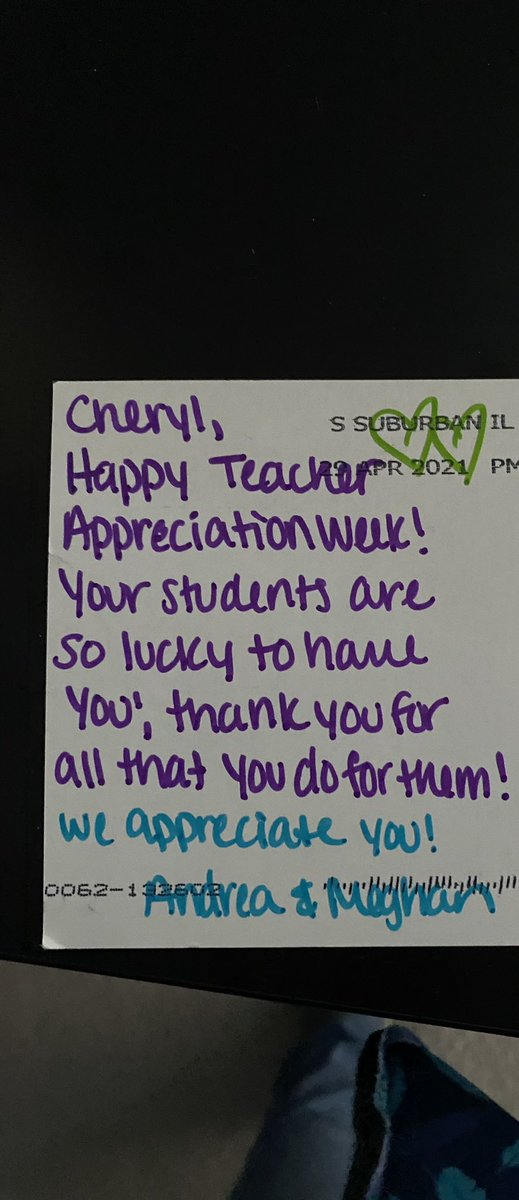 I forgot to post this lovely teacher appreciation week note I received from @KalchbrennerELA and @meghandeegan! I love being a Teach Better Ambassador! Grateful to know both of you. @teachbetterteam https://t.co/cnHnIcgWOs