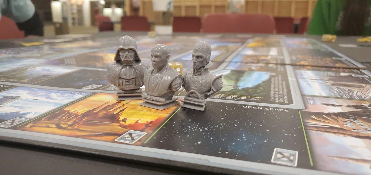 Playing a little Star Wars Talisman with the team.  #starwars #starwarsday #stormtrooper #maythe4thbewithyou #macewindu #darthvader #thegrandinquisitor #talisman