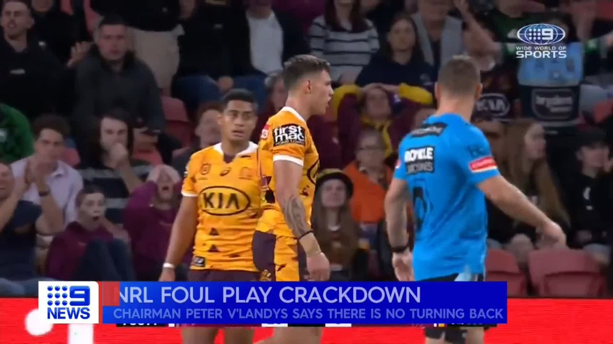 FULL INTERVIEW: PVL is fuming about those criticising his stance on eliminating high tackles. The story tonight on @9NewsSyd @NRLonNine
