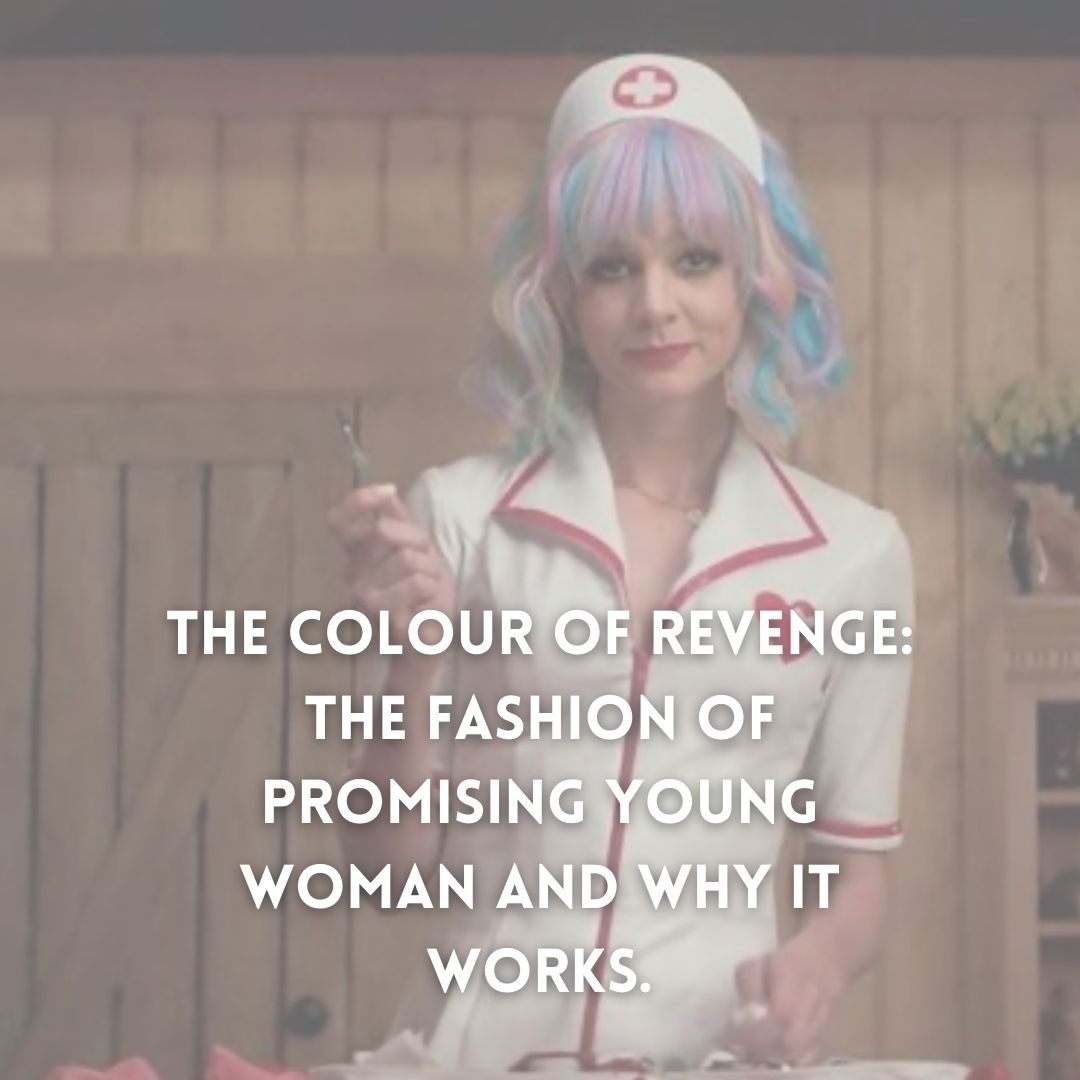 The Colour of Revenge: The Fashion of Promising Young Woman and why it works. By Erin Wilson   Follow the link:  https://t.co/fjdjS1MAZr  Courtesy of @promisingyoungwomen via Instagram.  [ID the article's title with an image of Carey Mulligan]  #promisingyoungwoman #fashion https://t.co/lz0mMKtpel