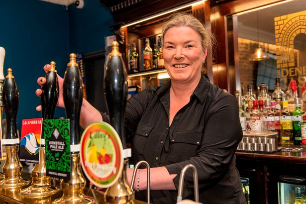 """""""Can't wait to watch football in the pub again with friends & family – it is not the same at home, super envious of those who managed to get those tickets to attend in person – but the pub is the next best thing!"""" - Fiona Hornsby at the Denbigh Castle pub #BackForGood"""