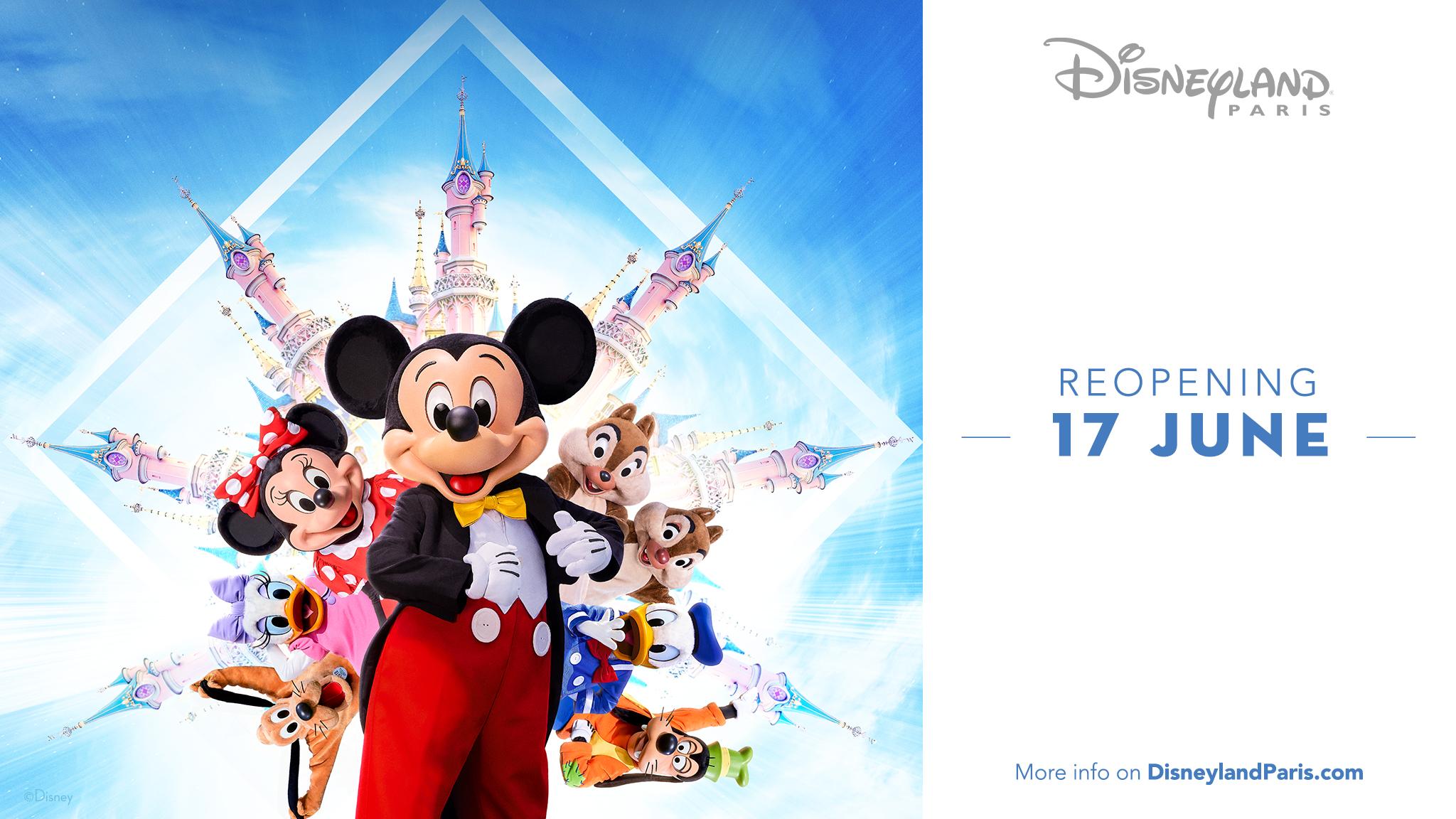 Disneyland Paris reabre em junho