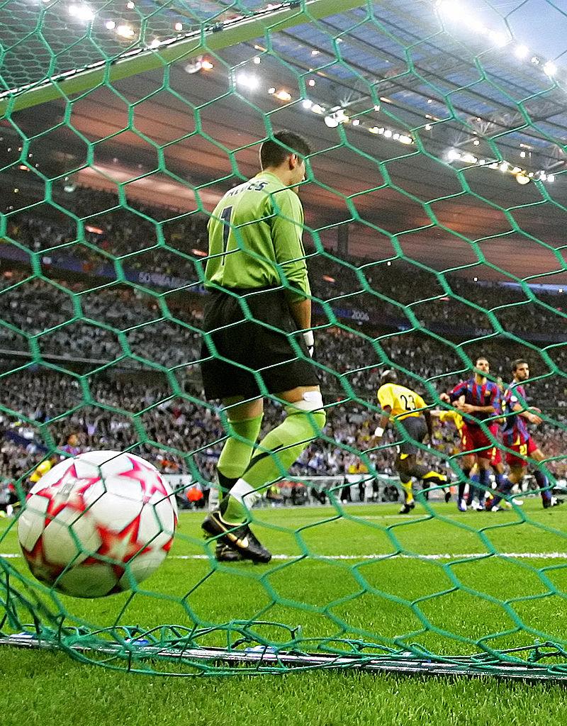 هدوء في أحداث شوط المباراة الأول برشلونة