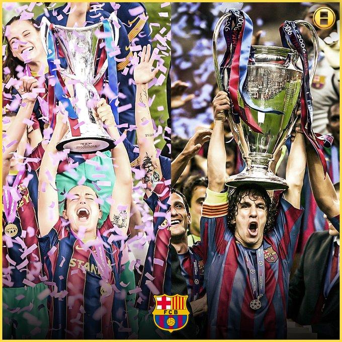 برشلونة أصبح أول فريق في التاريخ يحقق دوري
