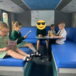 Image for the Tweet beginning: #SJV2W on the library bus
